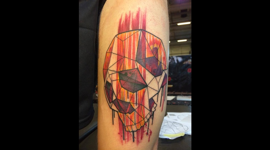 Tattoo  Trash  Skull  Art  Watercolor Arm