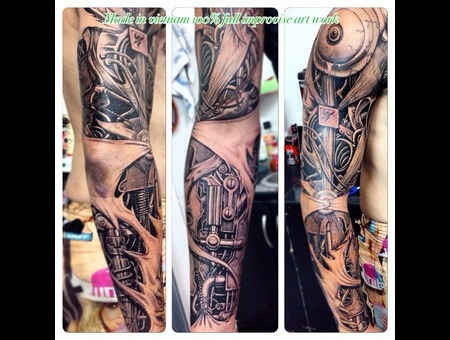 Full Improvise Freestyle Biomechanical Tat Arm