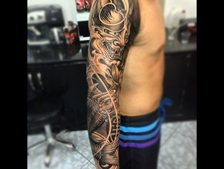 Koi Fish/Hanya Mask Arm