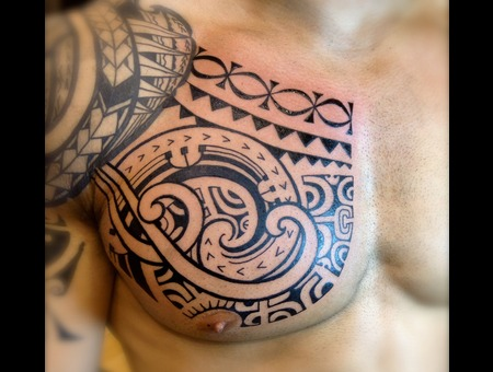 Polynesian Marquesan  Tribal  Tahitian Wave Chest