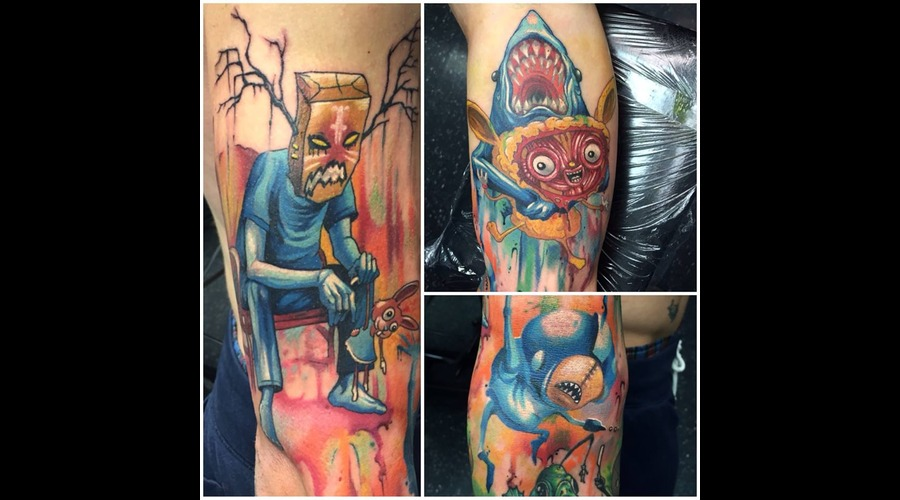 Alex Pardee  Full Color  Artwork Arm