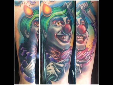 Full Color  Clown  Custom  Circus  Evil Clown  Evil Circus Arm