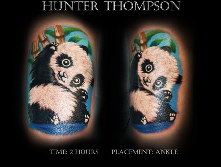 Ankle  Panda  Bear  Bamboo  Baby 2hours Lower Leg