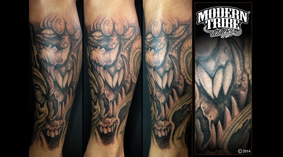 Demon  Skull Lower Leg