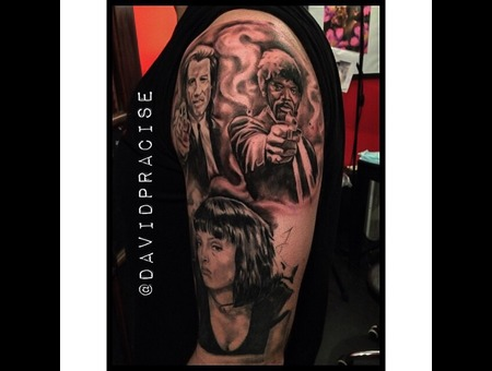 Pulp Fiction Half Sleeve Shoulder