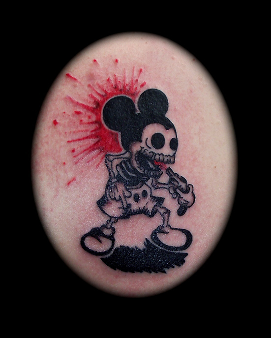 small tattoo - Mickey Mouse