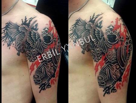 Angel Wings Angeltattoo Melek Melekdövmesi Erbilyanbul Scorpionink Istanbul Arm