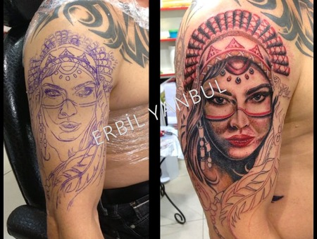 Megan Fox Girl Indian Indian Indiantattoo Erbilyanbul Scorpionink Istanbuld Forearm