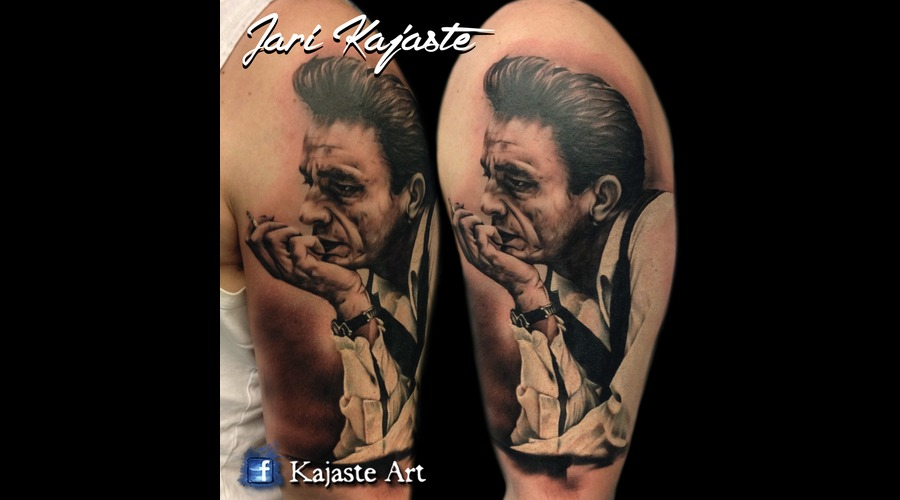 Johnny Cash  Portrait Arm