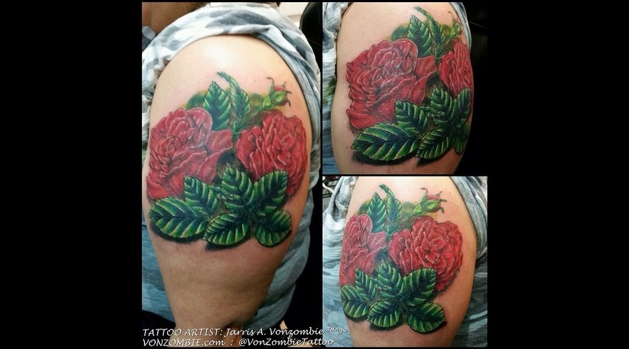 Rose  3d  Realism Shoulder