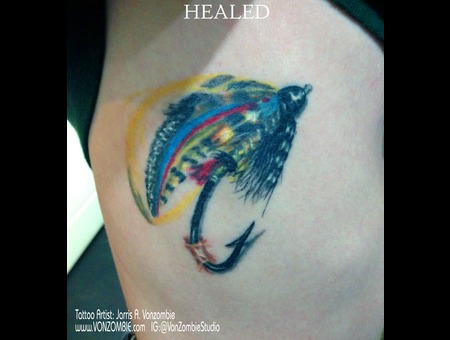 Healed  Lure  Fishing  Hook  Color  3d  Realism Ribs