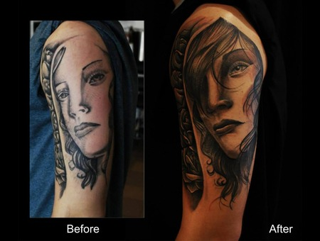 Coverup Face Roses Shoulder