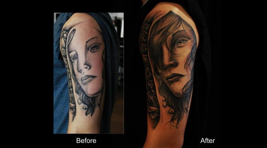 Coverup Face Roses Shoulder