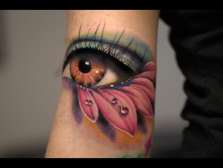 Eyeball  Color Eyeball  Flower Eye  Color Tattoo  Eye Arm