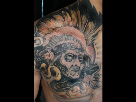 Cover Up  Native American  Native Tattoo   Chest