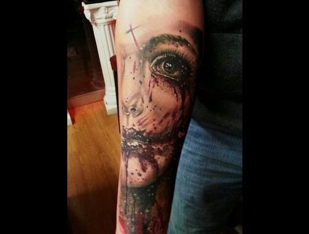 Zombie Eyes Forearm