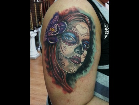 Day Of Dead Girl Arm