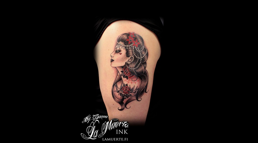 Woman Tattoo Shoulder
