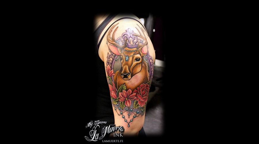 Deer Tattoo Shoulder