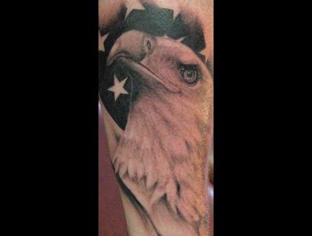 American Eagle  American Flag Forearm