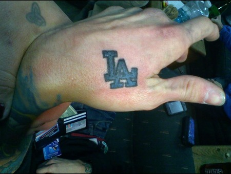 La  Dodgers  Hand Color