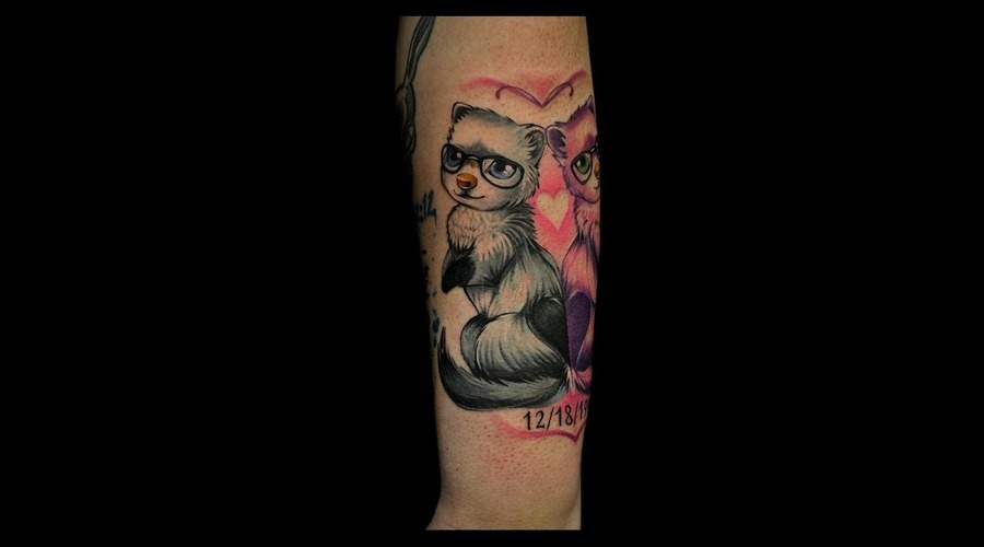 Funny Cartoon Tattoo Color Tattoos  Arm
