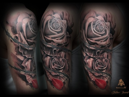 Only Rose..With Abstract Style Arm