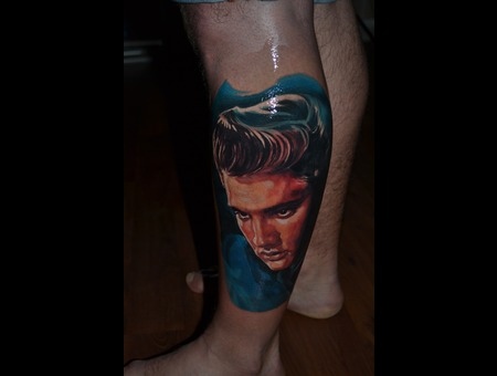 Elvis Colour Portrait Zoltan Realism Lower Leg