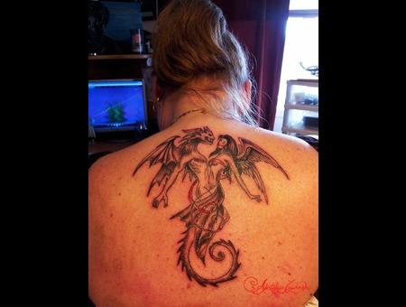 Dragon  Angel Back