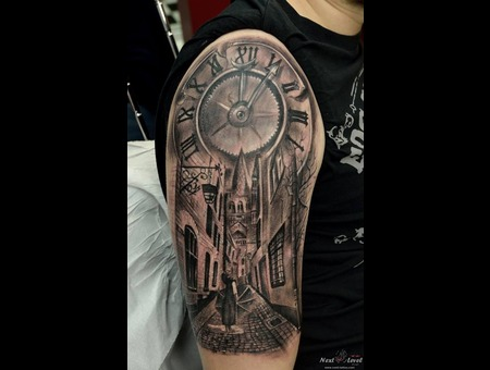 #Trueartist #Black&Grey Tattoo  Arm
