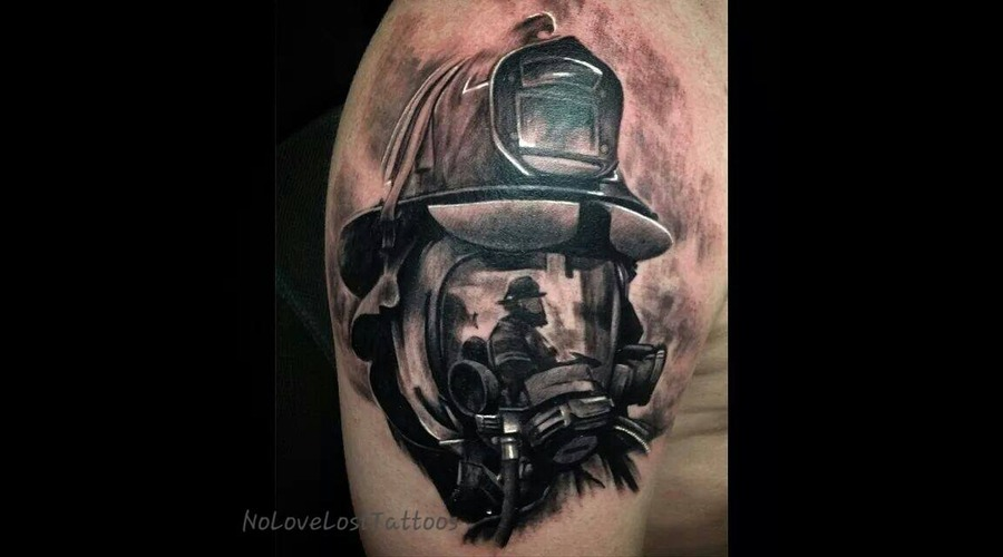 Firefighter  Memorial  Strength  Hero Arm
