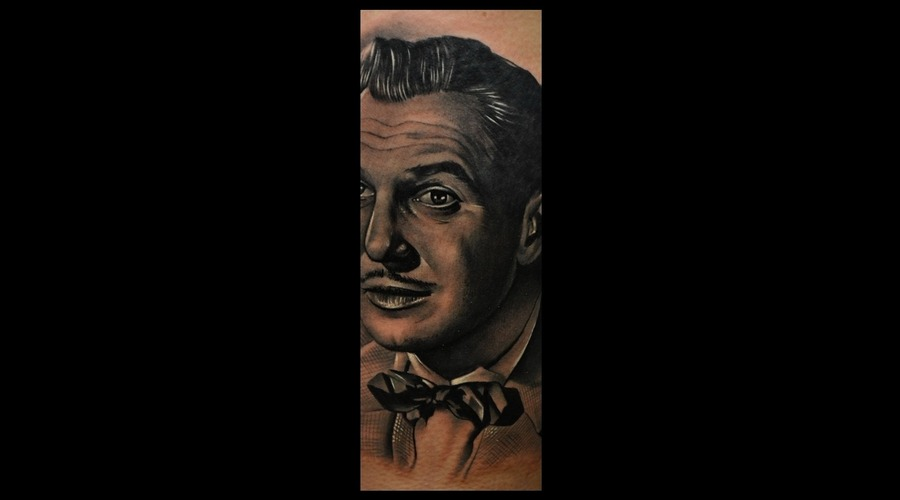 Vincent Price  Black And Grey  Hyper Realistic  Photo Realistic  Thigh