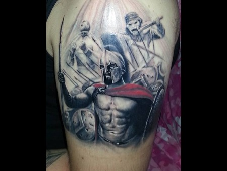 Leonidas 300spartans  Shoulder
