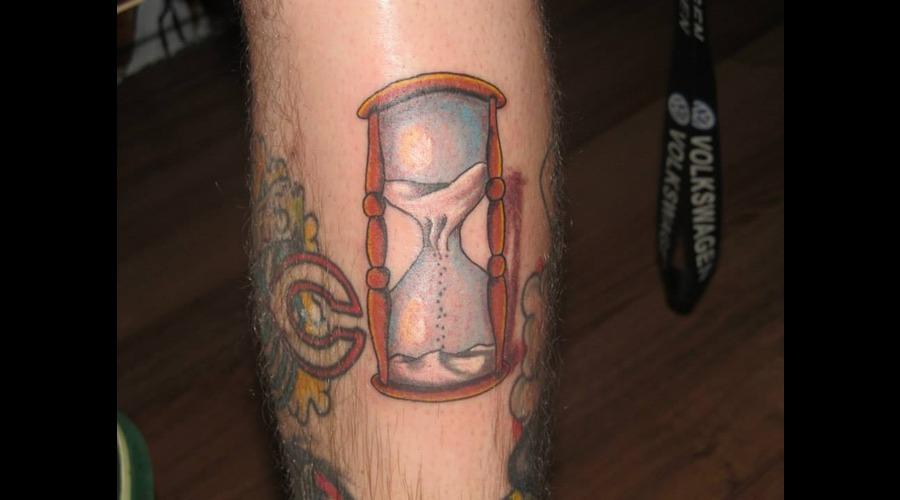 American Traditional Outline Hourglass Sand Glass Newschool Lower Leg