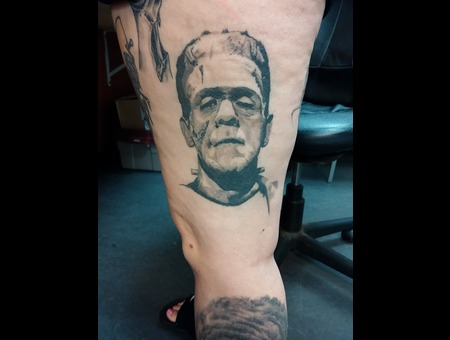 Face Portrait Photo Realism Frankenstein Monster Horror Thigh