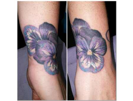 Flower Pansy Realism Photo Wrist Color Forearm