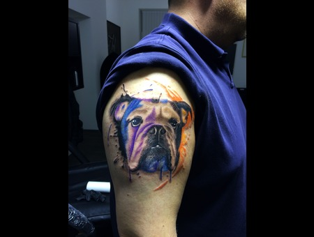 Water Color Dog Shoulder