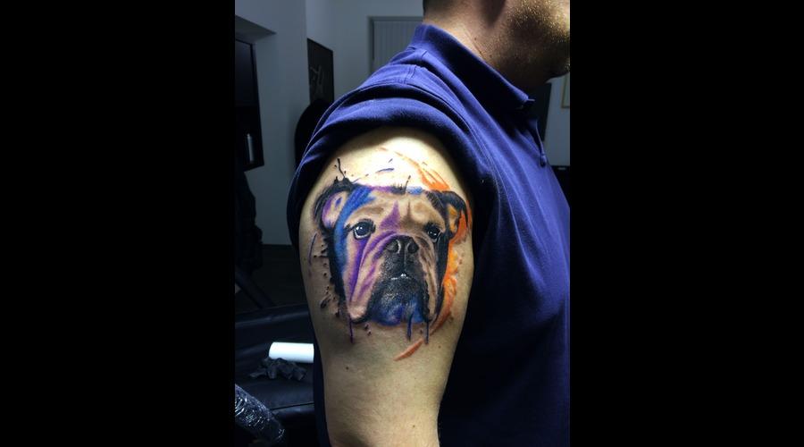 Water Color Dog Shoulder