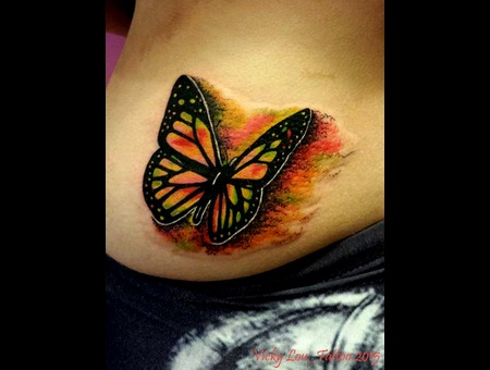 Watercolour Butterfly Custom Girlswithtattoos Hip