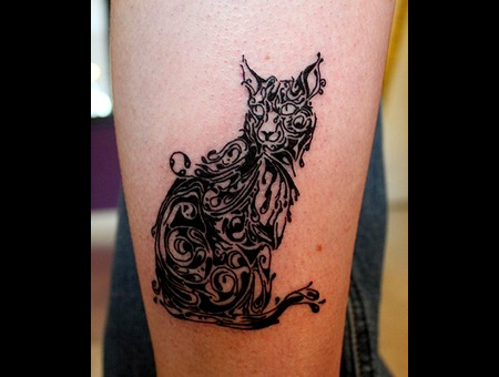 Mini Small Detailed Siscott Artist Cat Kitten Linework Tiny Lower Leg