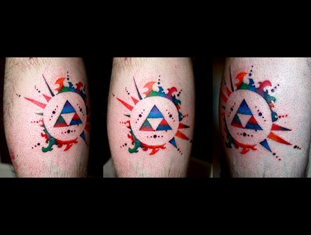 Videogames Zelda Artistinterpretation Watercolour Guyswithtattoos Lower Leg