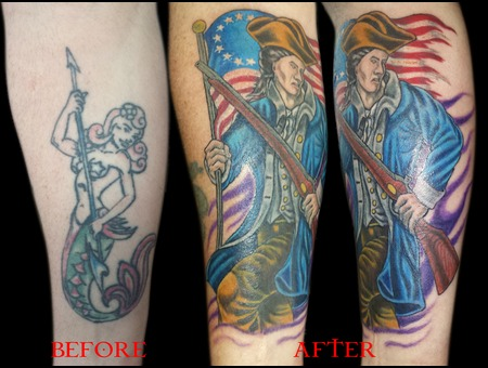 Cover Up  Color  Patriotic  'merica Forearm