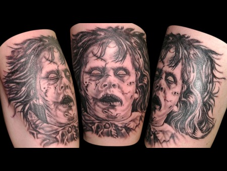 Black & Grey  Greyscale  Horror  Exorcist Arm