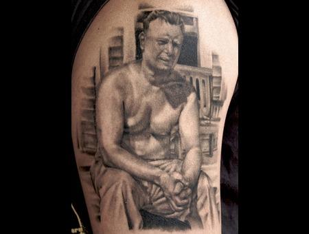 Portrait Horror Man Realistic Black&Gray Arm