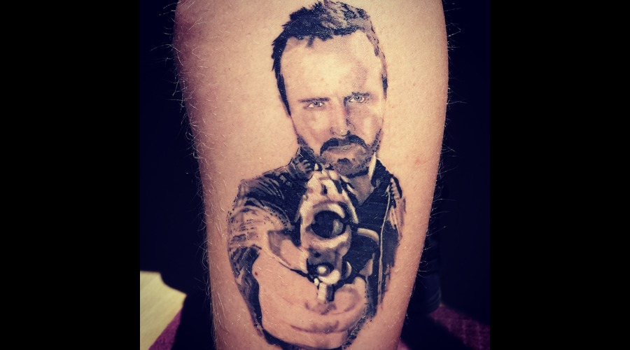 Jesse Pinkman Breaking Bad  Lower Leg