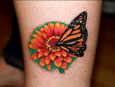 Realism Butterfly Flower Girly  Lower Leg
