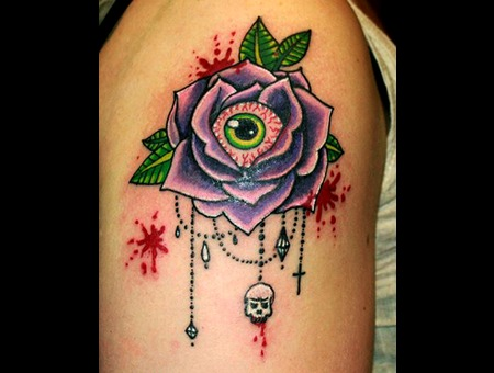 Gross Rose Blood Kawaii Eyeball Eye Purple Arm