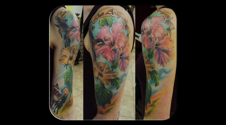 Flowers  Cover Up Arm