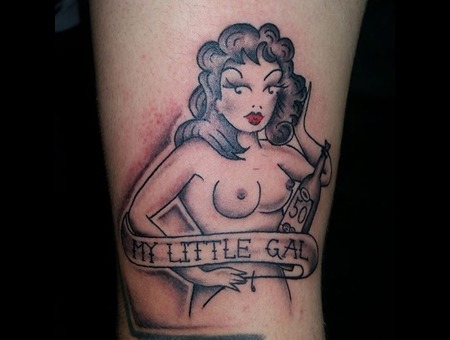 Pinup  Old School  American Traditional  Nude   Arm