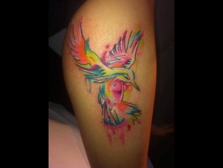 Watercolour  Hummingbird Lower Leg